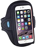 Armband for iPhone 6, 6s with a slim case; Galaxy S5/S6/S7 with no case; and iPhone 5/5s/5c/SE with LifeProof Case - for Running & Workouts - for Men & Women - Sweat-Resistant Design [Black]