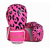 Boxing Gloves Kids 8oz Professional PU Leather Mitts for Training, Grappling, Competition, Punch Bags, Fingerless Kit for Age 5-15 Years Girls Boys (Pink, 1 Pair)