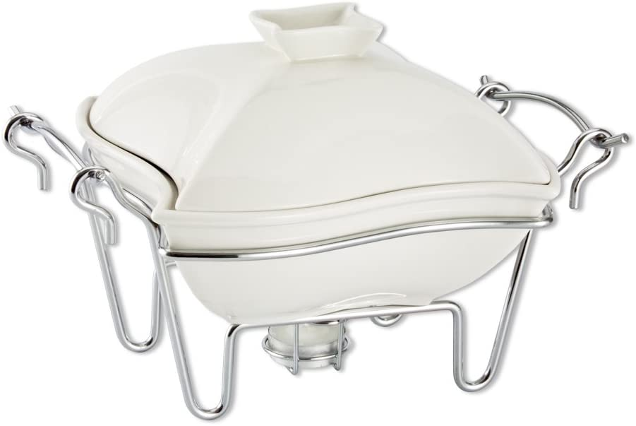 Godinger Ceramic Covered Baker with Stand