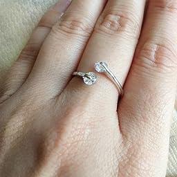 Amazon レッドバリーズ Redbarrys 婚約指輪 K18 ホワイトゴールド ファッションリング ジルコニア Czダイヤ 2粒 レディースアクセサリー 日本サイズ 10号 リング 通販
