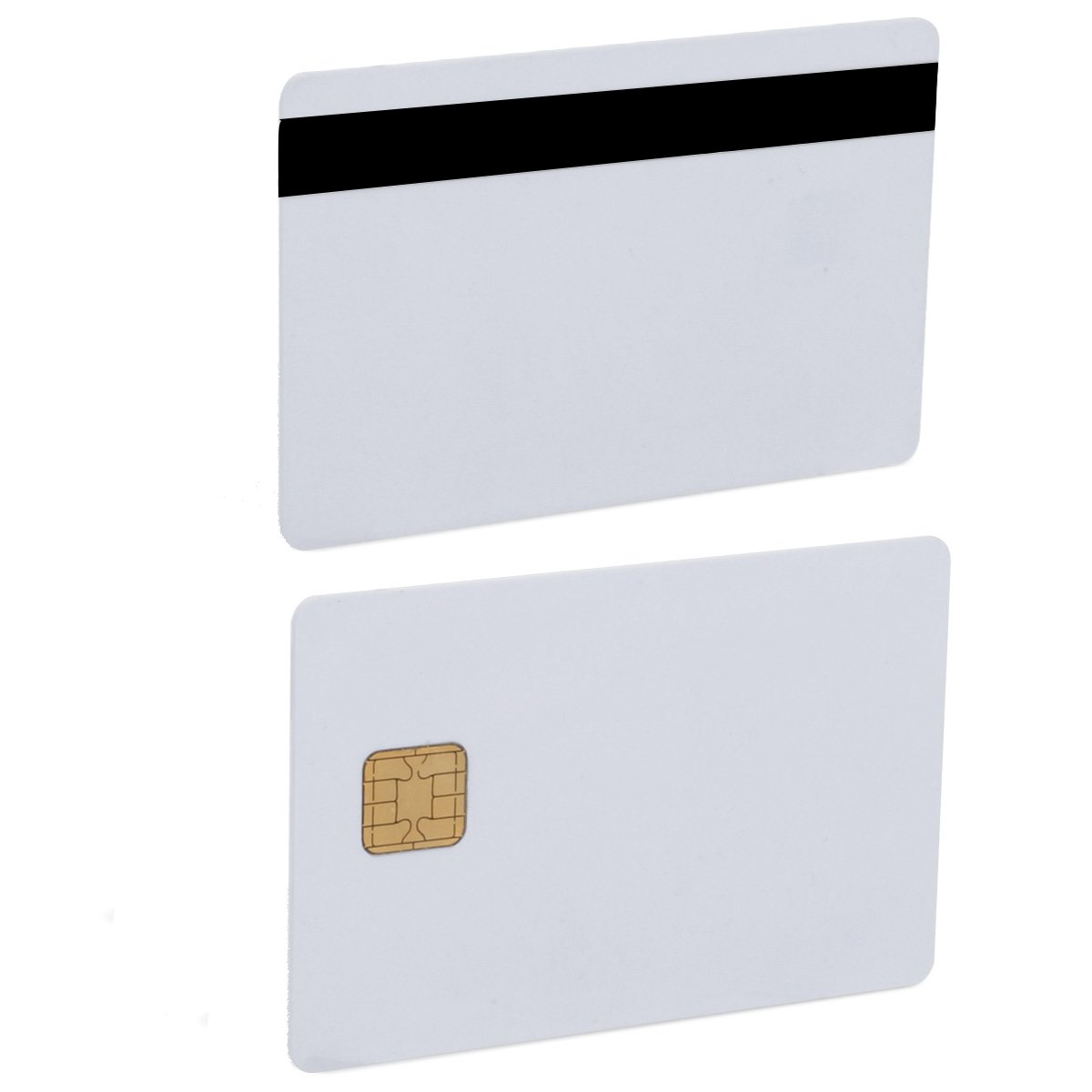 JAVA Chip Smart Card JCOP 40K J2A040 Java Card with 3 track 12.7 mm HICO/LOCO Magnetic Stripe- 5 Pack by smartelf