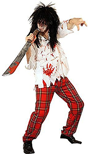Rocker Zombie Adult Wig (Halloween-Scary-Horror EVIL ZOMBIE ROCKER Full Costume and Wig - From Teen Size to XXXXL (LARGE))