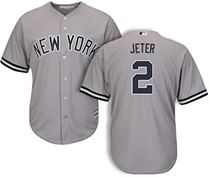 size 40 30923 51612 Men's #2 Derek Jeter New York Yankees Road Jersey