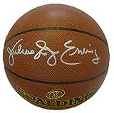 Julius Erving Dr. J Autographed Philadelphia 76ers Spalding I/O Basketball JSA