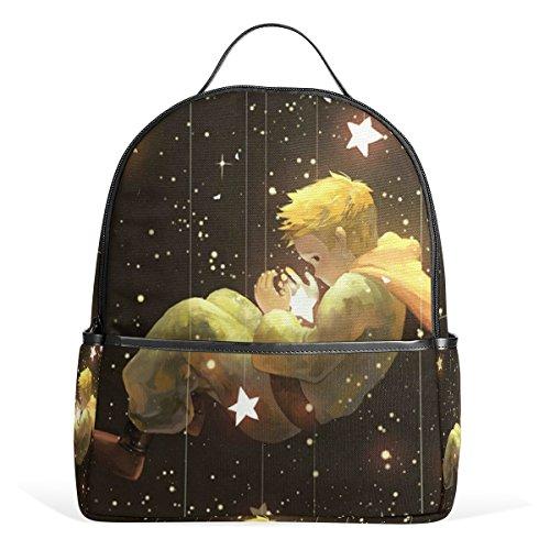 Star Galaxy Little Prince Backpack Bookbag Shoulder Bag For Boys Girls Travel Daypacks