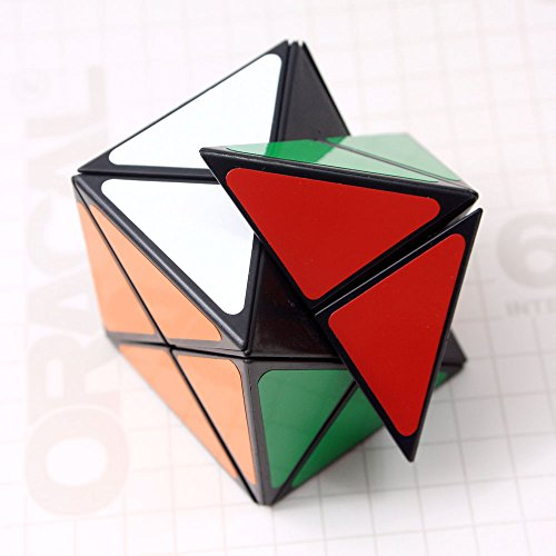 Mf8&smaz Dino Skewb Magic Cube 57mm Black Dinosaur Puzzle Cube