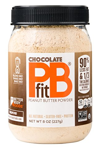 Chocolate PBfit - All-Natural Chocolate Peanut Butter Powder, Produced by BetterBody Foods, 8 Ounce