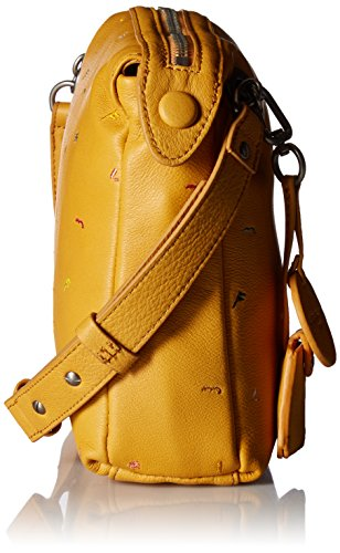 Liebeskind Leather Women's Amber Berlin Arielle Crossbody Yellow Embroidered qpv7rqx