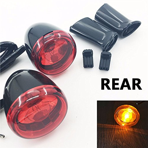motorcycle turn signal lights with bracket For Harley Davidson turn signal flasher 883 XL1200 Sportster 92-up rear