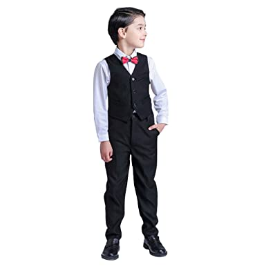 738f7dee2 4 pcs Baby Kids Toddler Boys Clothes Wedding Party Outfit Sets Christening  Coat (4-