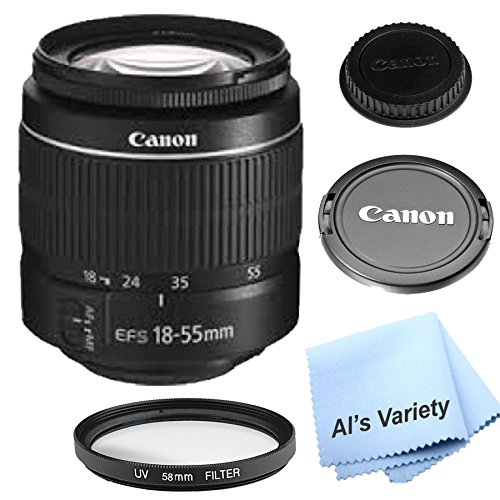 Canon EF-S 18-55mm f/3.5-5.6 III DSLR Lens (White Box) by AL'S VARIETY