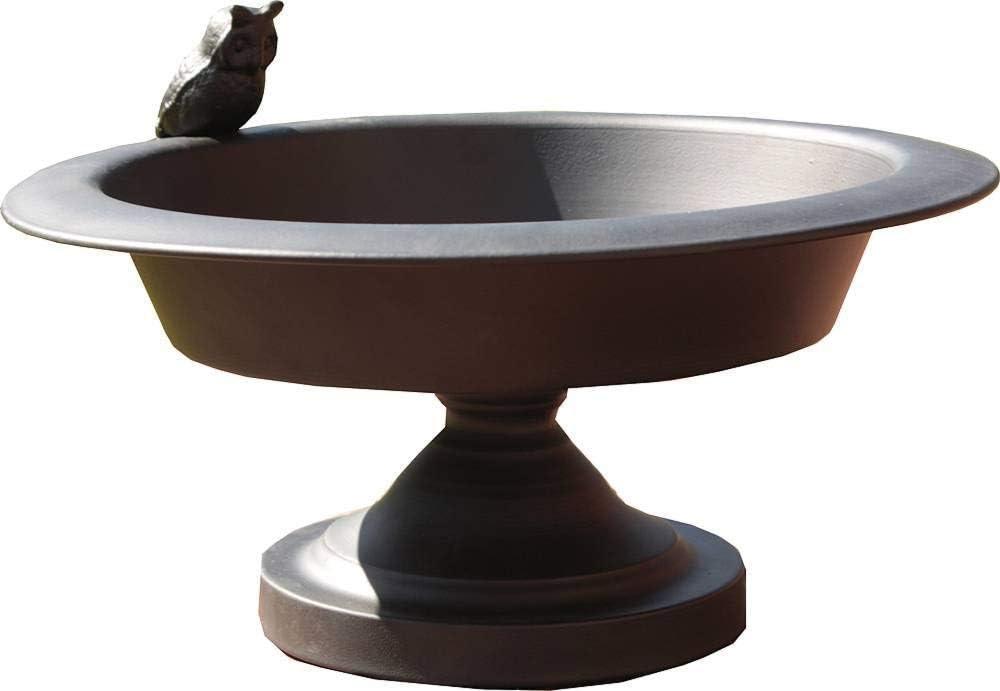 Gran Nostalgia baño para pájaros, diseño antiguo, bañera para pájaros, hierro forjado óxido braun