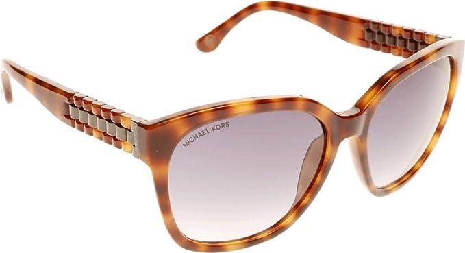 a1b304e6cd Michael Kors Natalie Sunglasses in Soft Tortoiseshell - M2886S 240 58   Amazon.co.uk  Clothing