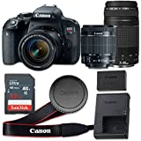 Canon EOS Rebel T7i 24.2 MP CMOS Digital SLR Camera with 3.0-Inch LCD with EF-S 18-55mm f/4-5.6 IS STM Lens and EF 75-300mm f/4-5.6 III Lens - Wi-Fi Enabled (Certified Refurbished)