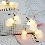 Gzero 10 LED Children's Room Cute Animal Long Horn Unicorn LED String Lights for Holiday Lights Wall Window Tree Decorative Lights Party Yard& Garden Kids Bedroom Living-room Dorm Uses
