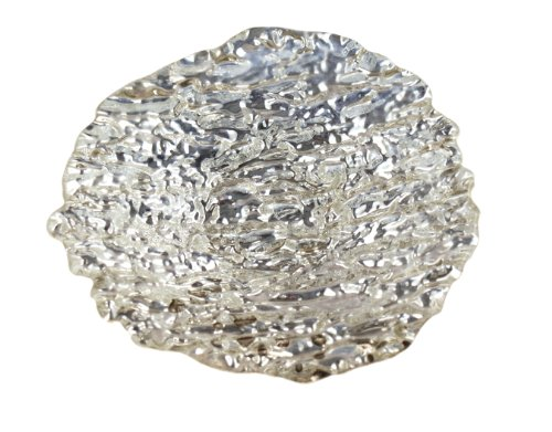 Arda Romos 5-1//2-Inch By 5-Inch Square Dish Set of 4 Silver Plated