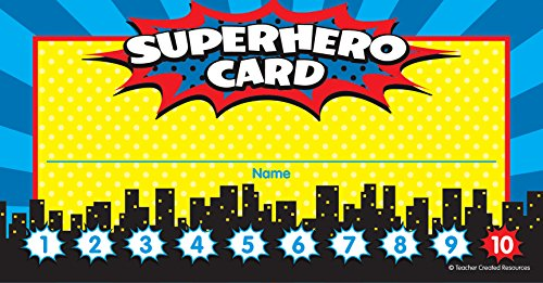 Teacher Created Resources Superhero Punch Cards (5607)