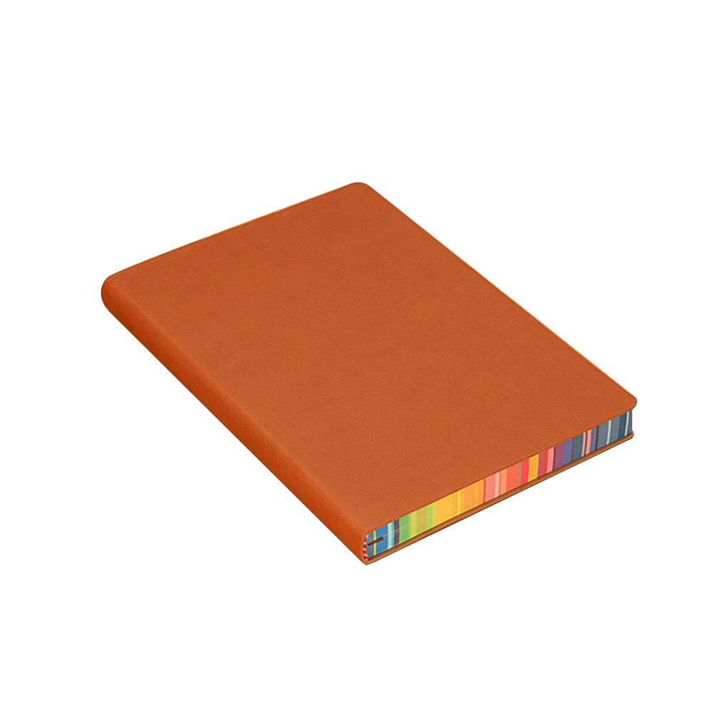 Lorsoul Notebook A5 con Il Bordo colorato, Cuoio della Copertura dell'unità di Elaborazione, per Il Lavoro Memo/diario di Viaggio Agenda Cuoio della Copertura dell'unità di Elaborazione