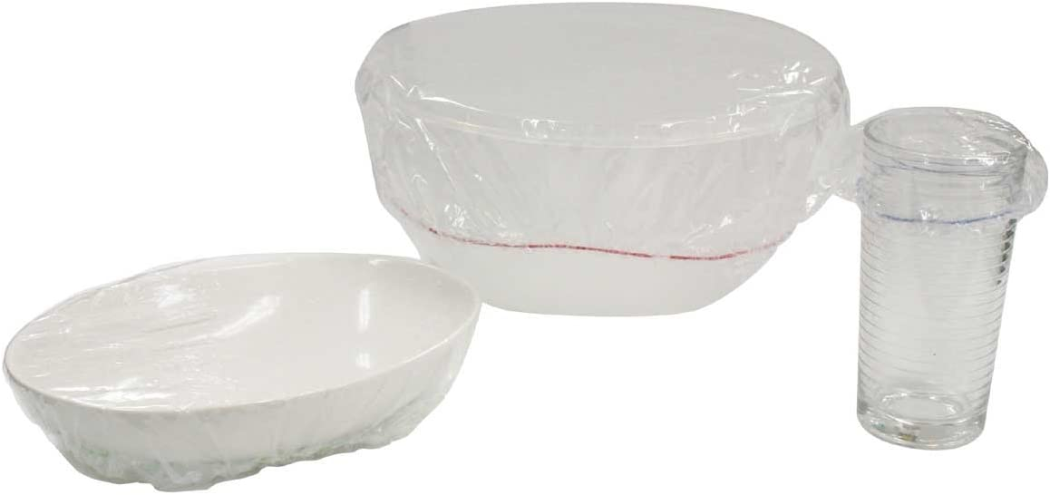 pack of 25 not plastic WHITE BREATHABLE ELASTICATED BOWL COVERS