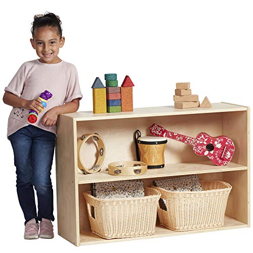 ECR4Kids Birch Streamline 2-Shelf Storage Cabinet