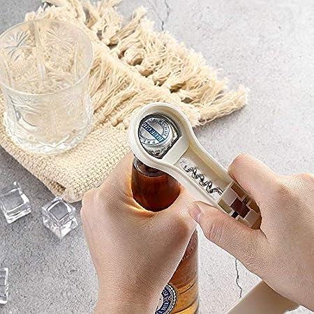 XJZKA Abridor de latas Manual de Servicio Pesado Abridor de latas Abridor de Vino Abridor de Botellas de Acero Inoxidable Staiess Abridor de Vino (Color: 1)
