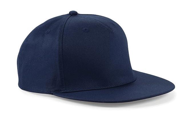 bd1450c920a2b Beechfield Rappeur Casquette Baseball - Bleu marine, Taille unique adulte-