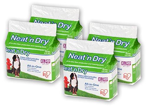 IRIS Neat 'n Dry Premium Pet Training Pads, Extra Large, 23.5'' x 35.5'', 80 Count by IRIS USA, Inc. (Image #6)