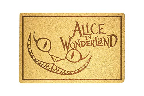 shopARMUS Alice in Wonderland Doormat Sweet Home Supplies Décor Accessories Unique Gift Handmade Present Idea Original Design Commercial Outside Inside Personalized Quotes Exterior]()