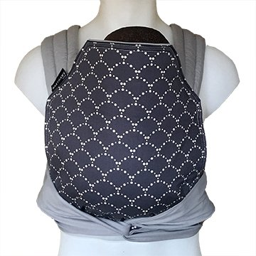 BabyHawk by Moby Baby Carrier for Newborns + Toddlers - Meh Dai (Mei Tei) - Grey Ripple