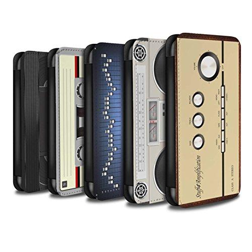 Stuff4 Coque/Etui/Housse Cuir PU Case/Cover pour Apple iPhone X/10 / Pack 5pcs Design / Retro Tech Collection