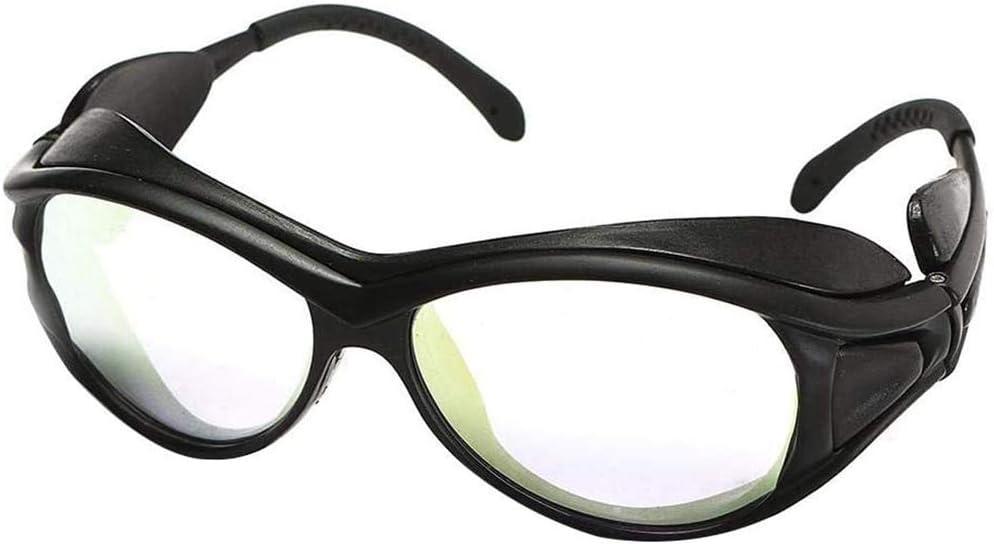 Gafas Gafas Transparentes, Gafas De Protección Doble Capa Profesional Claras para Láser De CO2 Estilo De Grabado De Corte B,1