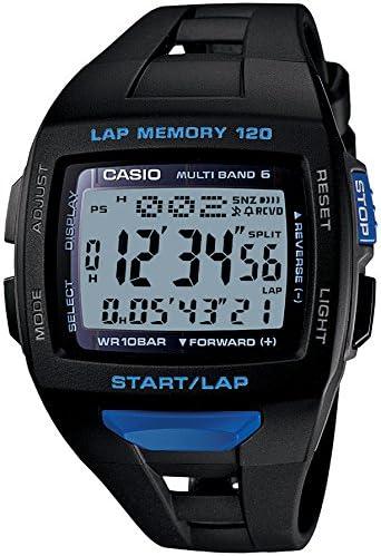 カシオ 腕時計 フィズ LAP MEMORY 120 電波ソーラー STW10001BJF ブラック