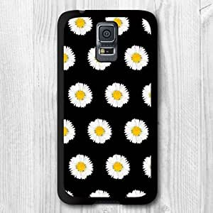 Daisy Flower Protective Cover Case For Galaxy S5 Case + Screen Protector + Earphone Anti Dust Plug Cap + Retail Package