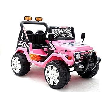 Voiture électrique 2 places 12V Jeep Raptor Rose - Pack Evo  Amazon ... 741aa775fd13