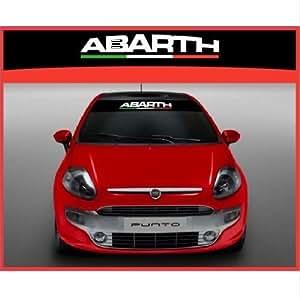 Amazon.com: Fiat Abarth italian Flag windscreen sun stripe