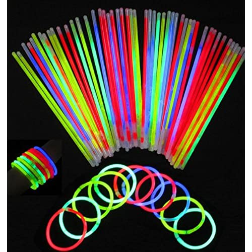 100/200/300 Mix Glow Stick Party wedding fun Supply Light Bracelets necklace new