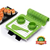 Product review for WesuCo Sushi Roll Making Kit with Sushi Rolling Mat, Stand for Mat, Rice Spatula, Soy Sauce Dishes , Clamp for a Sheet of Nori