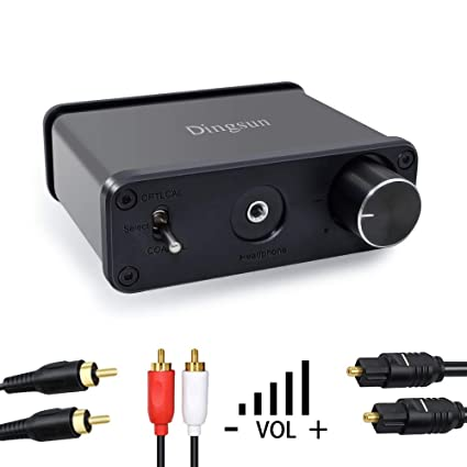 Optical to RCA Converter, Digital to Analog Converter, Optical Coaxial Toslink to L/