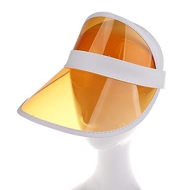 Fashion Baby Kid Plastic Summer Beach Visor Cap Transparent Sunscreen Sun Hat UK