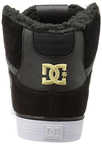 Dc Uomo Alto Spartan Wc Wnt Sneaker Nero / Oro