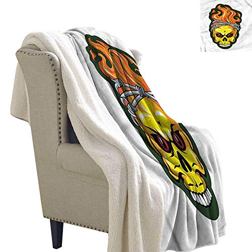 AndyTours Baby Blanket Barbed Wire Spooky Halloween Theme Autumn and Winter Thick Blanket W59 x L78