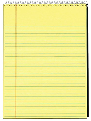 TOPS Docket Legal Pad, 8.5 x 11.75 Inches, Top Wirebound, 70 Sheets, Legal Rule, Canary (99613)