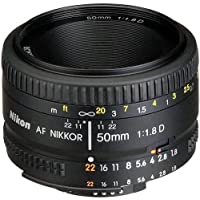 Nikon AF FX NIKKOR 50mm f/1.8D Lens with Auto Focus for Nikon DSLR Cameras International Version (No warranty)