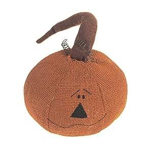 homeford Halloween de peluche de yute floral cabeza de calabaza, naranja, de 6,5pulgadas