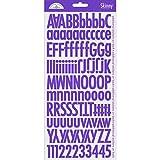 DOODLEBUG Skinny Cardstock Alpha Stickers, Lilac