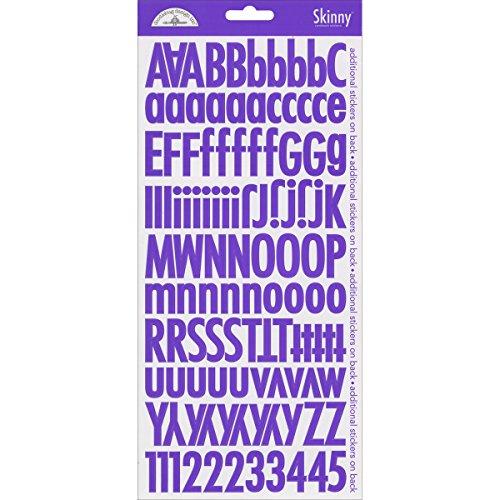 DOODLEBUG Skinny Cardstock Alpha Stickers, - Doodlebug Cardstock Alpha Stickers