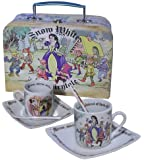 Snow White 3oz Cup, Saucer and Spoon Set/2 Teacup Espresso Cup