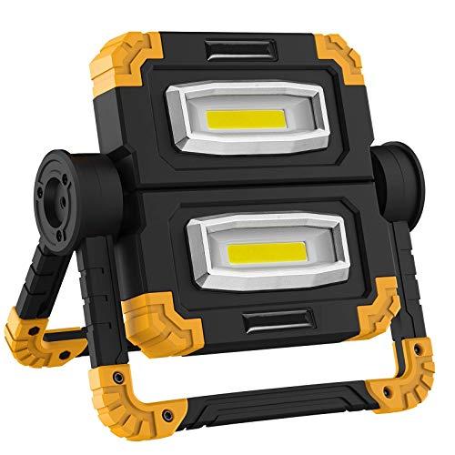 WOERD Baustrahler Led, Led Arbeitsleuchte Baulampe, 2000LM Wasserdicht Bauscheinwerfer Baustellenlampe Tragbar USB…