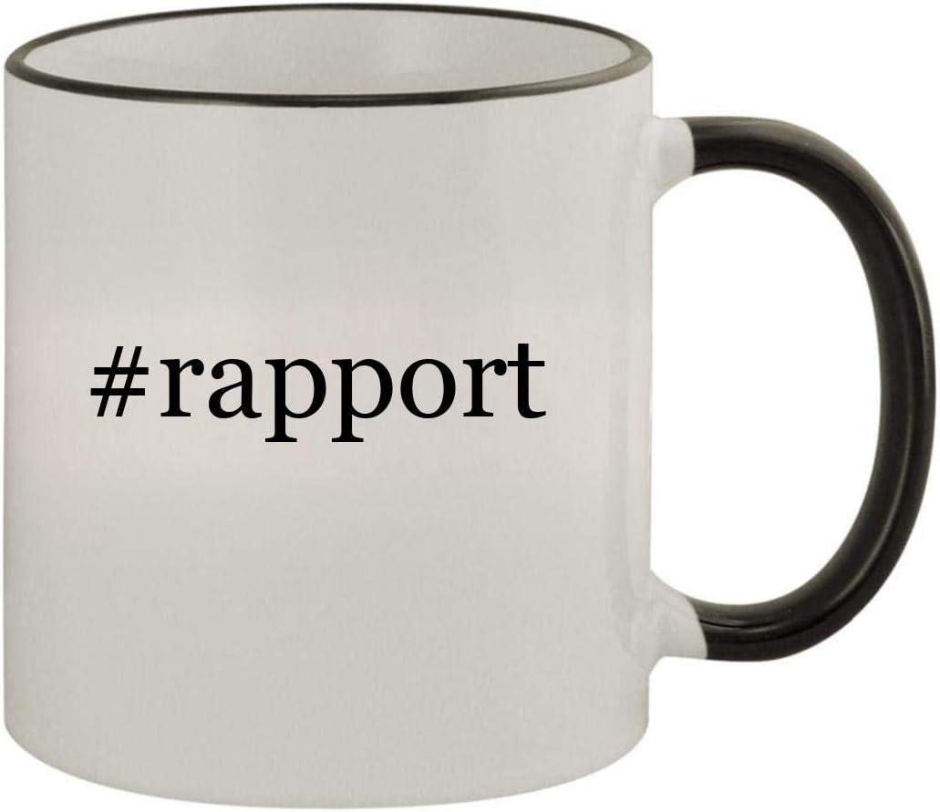 #rapport - 11oz Ceramic Colored Rim & Handle Coffee Mug, Black