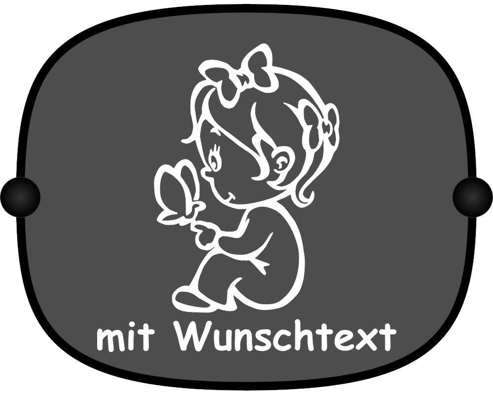 Sonnenschutz Auto Baby Kinder Sonnenblende mit Wunschtext - Motiv 41 (groß er Aufdruck) MY-BABY-SHOP